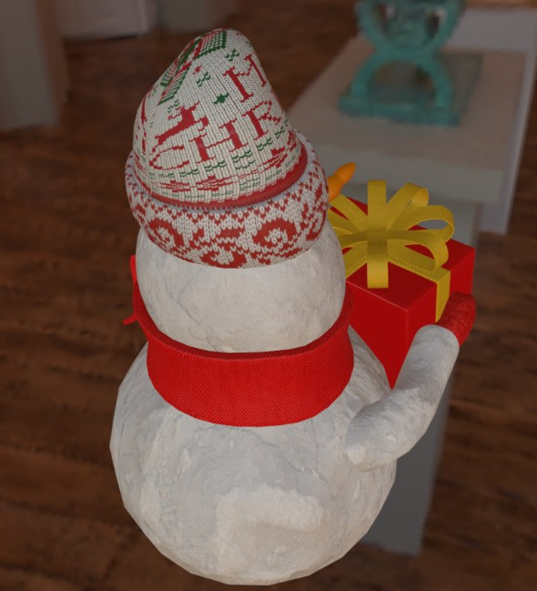 Christmas snowman 3D Модель